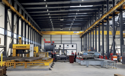 Metal constructions produced with Protos JSC's contemporary equipment